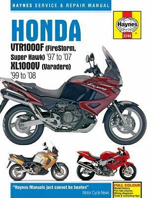 Haynes Workshop Repair Manual Honda Vtr1000 F Firestorm Hawk Xl1000 V Varadero