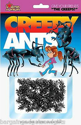 50 Fake Pretend Plastic Ants Insects Bugs Novelty Toy Joke Trick Boys Girls Gift