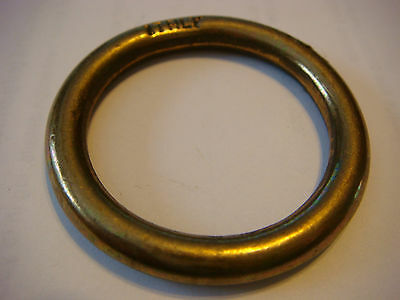 "3/16"" Solid Brass RING 1 3/4"" Outside D Made ITALY NOS 1 1/4"" Inside"