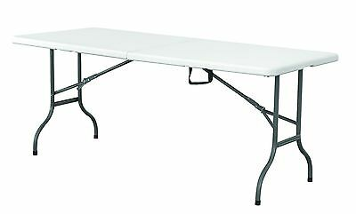 6Ft Heavy Duty Plastic & Folding Table Outdoor Trestle  Party Banquet Bbq Garden