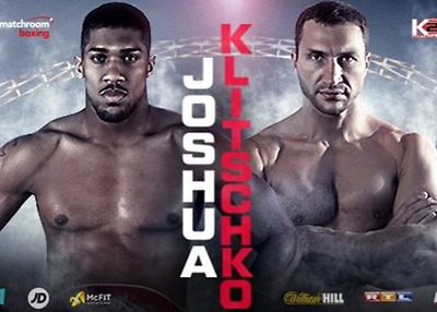 Anthony Joshua v Klitschko 29th April wembley  - 2x floor tickets EXCELLENT VIEW