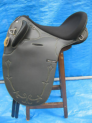 Syd Hill Black Synthetic Stock Saddle 17""