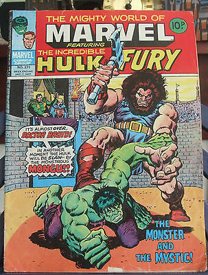 The Mighty World of Marvel Featuring The Incredible Hulk & Fury #271 Dec 7 1977