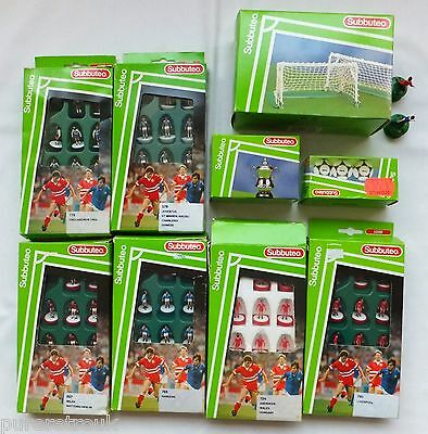 6 Boxed & Complete Subbuteo Lightweight Teams 579 724 719 741 769 & Accessories