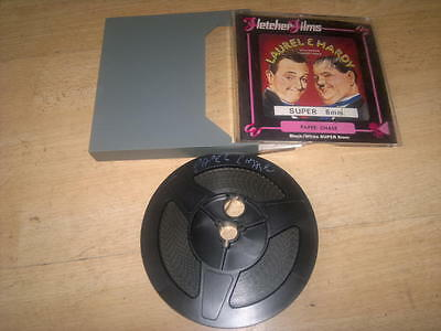 Laurel And Hardy '_pAPER Chase_Super  8mm Cine Film_Boxed,