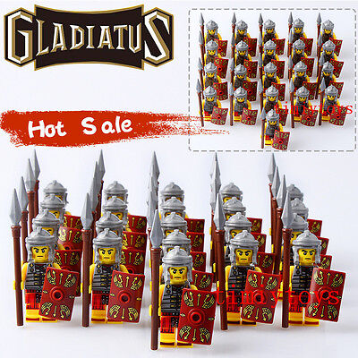 Rome Fighters Gladiatus Warriors Medieval Knights Rome Building Toys