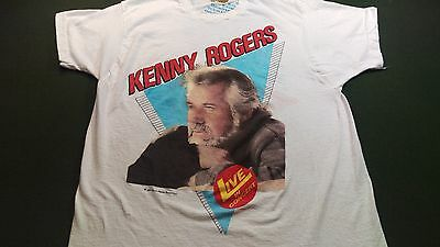 1986 Kenny Rogers Concert T Shirt XL True Vintage