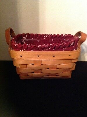 Longaberger Tea Basket Combo- Traditional Red