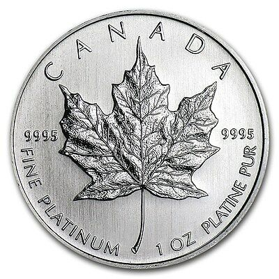 Canada 1 oz Platinum Maple Leaf BU (Random Year) - SKU #132160