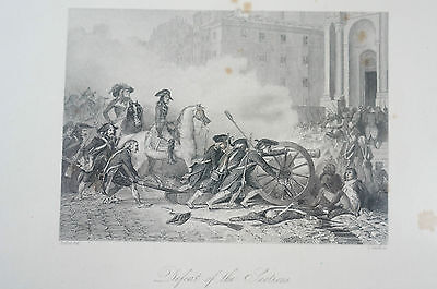 Druck Buchseite Napoleon Defeat of the Sections Raffet (N133)