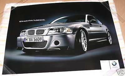 Very Rare genuine poster BMW M3 CSL