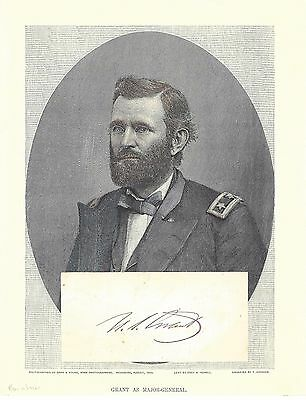 President Ulysses S. Grant Led the Union to Victory -- His Bold Autograph