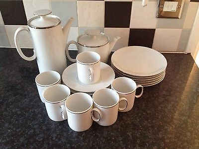 Thomas China Platinum Coffee/Tea Set. 22 Pieces COLLECTION ONLY FROM CHELMSFORD