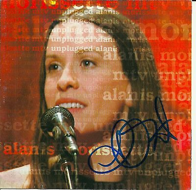 Alanis Morissette signed MTV Unplugged Acoustic cd