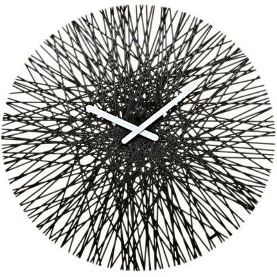 Koziol Silk Wall Clock Cristal-Controlled Timeless Design Solid Black 2328526