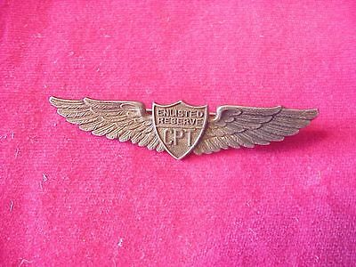 Wwii Cpt Civilian Pilot Training Enlisted Reserve Wings - Sterling Danecraft
