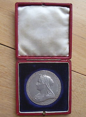 1837-1897 Large Silver Queen Victoria Medal Diamond Jubilee 55mm  Boxed