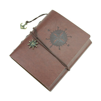 Leather Cover Self-adhesive Photo Album Vintage Scrapbook With Memo Ideal Pictur