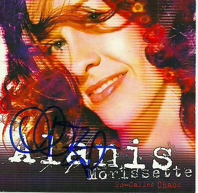 Alanis Morissette signed So-Called Chaos cd