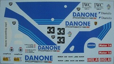 PORSCHE 956 n° 33 LE MANS 1986 DECAL 1/24e