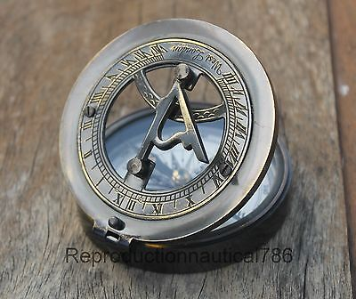 """Solid Brass Antique Compass, Nautical Working Astrolabe Ship Instrument Gift 3"""""""