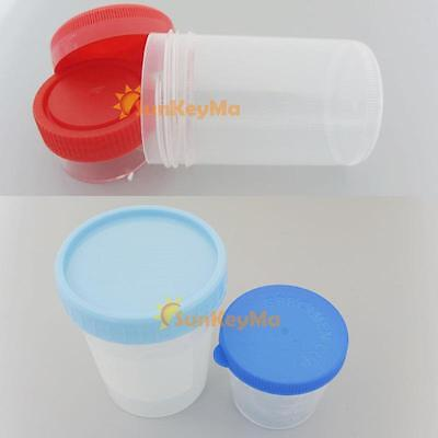Specimen container Security screw cap sterile plastic jar 20ml 40ml 90ml 120ml d