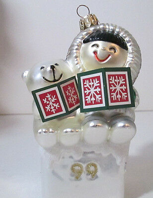 Hallmark Crown Reflections Frosty Friends Christmas Tree Ornament 1999