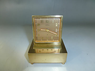 Antique Swiss Angelus Musical Alarm Clock Reuge Music Box Alarm (Watch Video)