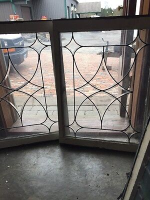 Sg 1188 2 Available Price Separate Antique Four Point Bevel Window 23.5 X 30.5
