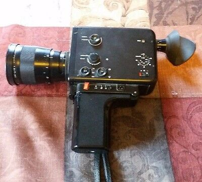 Braun Nizo 801 Super 8mm Macro Black Body Movie Camera Variogon 7-80mm PowerZoom