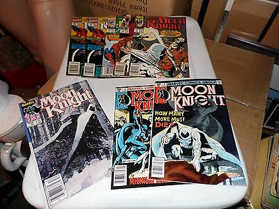 Moon Knight lot of 8 books #2 #3 #6 #14 #18 #19 #21 #21