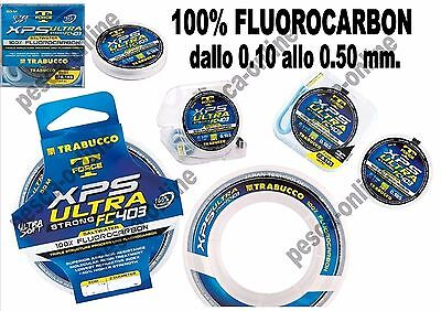 FILO 100% FLUOROCARBON TRABUCCO XPS ULTRA STRONG FC403 SALTWATER 50 mt. NEW 2017