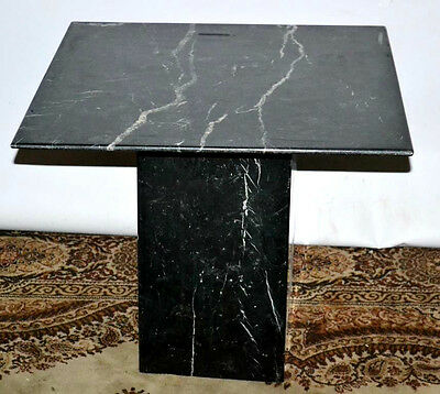 Vintage Solid Black Marble Coffee Table - FREE Delivery [PL2029]