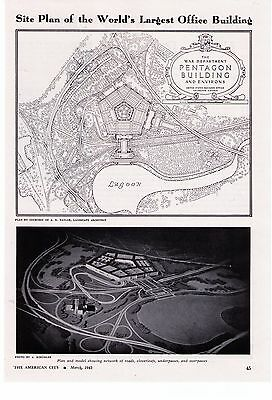 1943 'Pentagon Building' Site Plan Of The World's Largest Building Photo Article