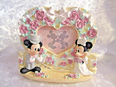 Disney Mickey and Minnie Mouse wedding heart picture frame