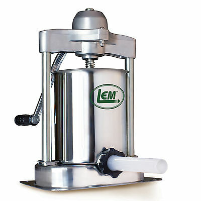 LEM Mighty Bite 15 lb Stainless Steel Vertical Sausage Stuffer