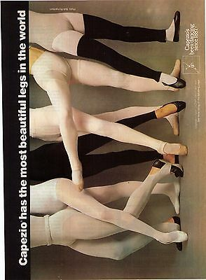 """1979 Capezio """"The Most Beautiful Legs In The World"""" Vintage Print Advertisement"""