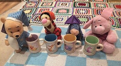 Winnie The Pooh Disney Store Mugs And Soft Toys Gift Set