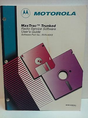 Motorola Maxtrac Trunked Radio Service Software Manual RVN-4043