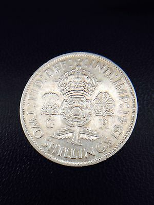 King George Vi 1941 One Florin Coin .500 Silver 11 Grams Great Britain Uk