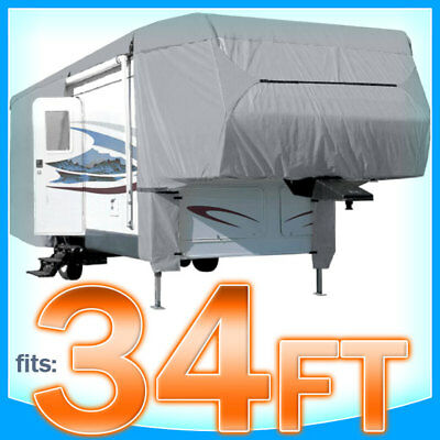 34' ft 5th Wheel Cover RV Motorhome Trailer Storage Covers Camper UV Protection