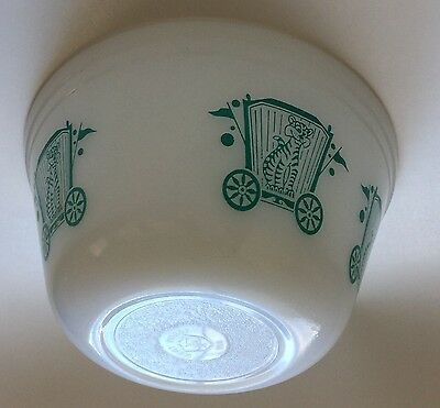 Federal Glass Bowl Circus Series Mixing Or Nesting Bowl U.S.A.