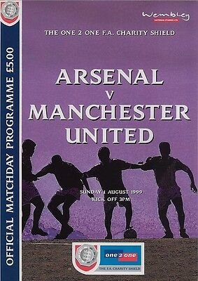 ARSENAL v MANCHESTER UNITED FA CHARITY SHIELD FINAL 1999