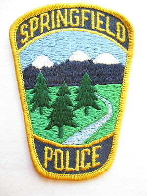 Springfield Police PATCH Obsolete VTG Retired Patrol Officer Embroidered