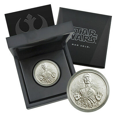 2016 Niue Star Wars Hans Solo 1 oz Silver Coin New Zealand Mint