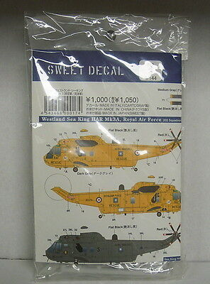 Westland Sea King, 1:144, Sweet Decals, RAF,RN, Plastik, NEU!