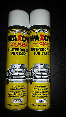 Hammerite Waxoyl Wax Oil Aerosol Clear 1 x 400ml