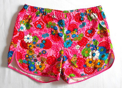 VINTAGE SHORTS 60's 70's Flower Power SWIM TRUNKS Psychedelic Surf Hot Pants