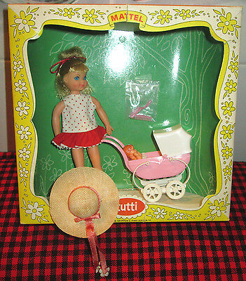 "1966 VERY RARE Barbie Vtg.~""TUTTI""~BOXED SET~WALKIN`MY DOLLY!~3552~COMPLETE+MINT"