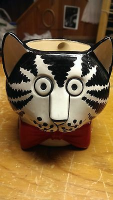 B. Kliban Mug Red Bowtie Cat Oversized Vintage Mug